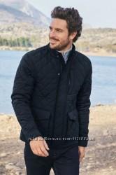 Стеганая в ромбик мужская деми куртка  Next. Размер Хл.