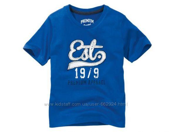 Стильная футболка 122-128, 6-8 лет pepperts германия электрик