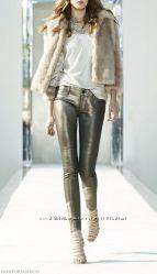 Трендовые брюки, джинсы с эффектом металлик р. 38 германия