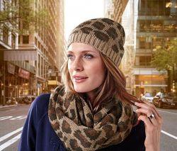 Теплая вязаная шапка от Tchibo, германия, цвет коричневый