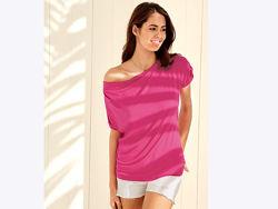Нежная розовая футболка с драпировкой XS 32-34 Esmara, Германия