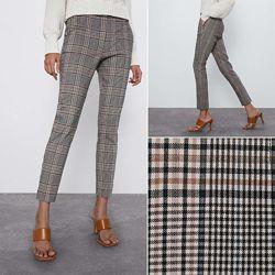 Укороченные брюки в клетку ZARA, Новая коллекция,  s