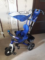 Детский трехколесный велосипед Lexus Trike синий надувные колеса бу