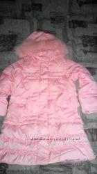 Пальто пуховое OHARA для девочки рост 110см.