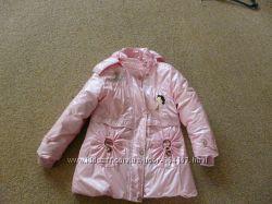 пальто пуховик 2 в 1 для девочки