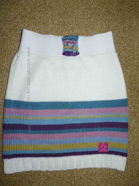 юбка вязанная  для девочки 6-9 лет