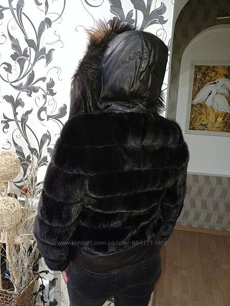 Шикарная норковая куртка Автоледи с полярной лисой
