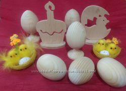 Деревяные заготовки пасхальных яиц и прочее