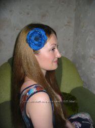 Шикарный шифоновый цветок в волосы.