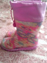 Резиновые сапожки на девочку, 26 размер