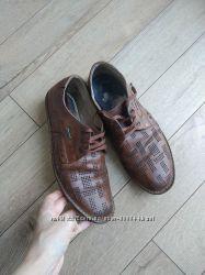 Летние туфли с перфорацией натуральная кожа дешево