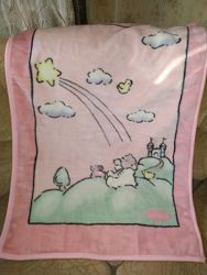 Покрывало одеяло плюшевое