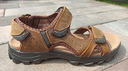 Мужские кожаные сандали ТМ Restime nml20111 brown