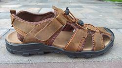 Мужские кожаные сандали ТМ Restime nml20116 brown