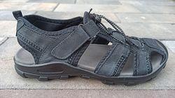 Мужские кожаные сандали ТМ Restime nml20116 black