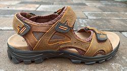 Подростковые летние кожаные сандали ТМ Restime Nwl20117 brown