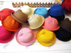 Летние детские шляпки с ушками