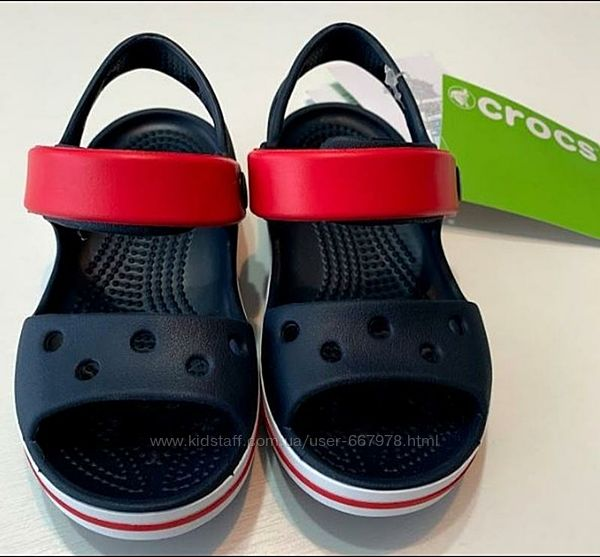 Crocs Crocband sandal navy/red