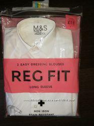 Продам новую школьную рубашку Marks & Spencer на девочку 6-7 лет