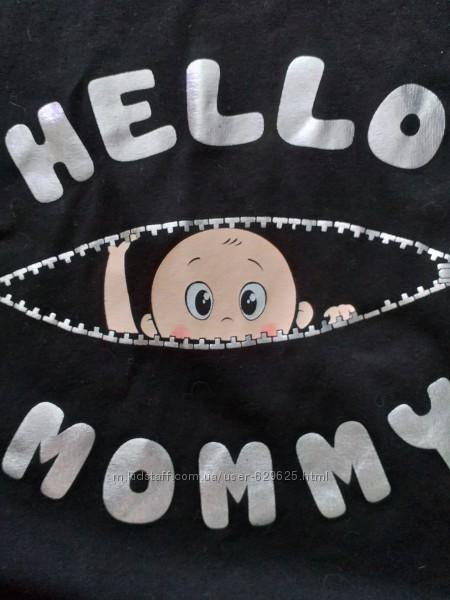 Кофта, футболка для беременных, с рисунком