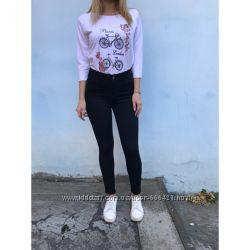 462906568d1 Облегающие женские джинсы HEPYEK с высокой посадкой черные