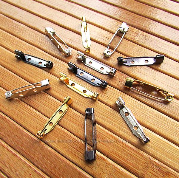 Японские булавки 15, 20 и 25 мм, основы для брошей