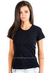 Черная футболка женская летняя