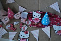 Декор на детский праздник Hello Kitty