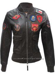 Жіночий бомбер Top Gun Women&acutes Vegan Leather Bomber Jacket коричневий