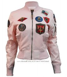 Жіночі бомбери Miss Top Gun MA-1 jacket with patches