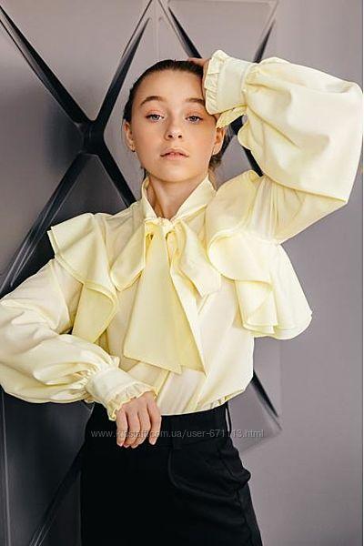 Шикарная зефирная блуза для модной девочки разные расцветки