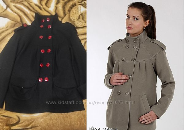 Чёрное пальто для беременных