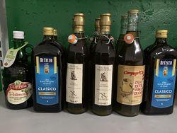 Масло оливковое extra virgin Италия, Испания, Греция 1 л, 5 л стекло и жб