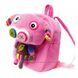 Рюкзак со съемным плюшем - Свинка  Pecoware Eco Snoopers Backpack