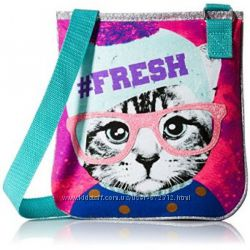 Тканевая сумка через плечо для девочки - Кошка, Сова
