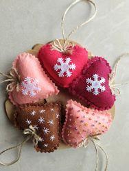 Набор игрушек Новогодние Новогодние украшения Подарок Сердечко Валентинка