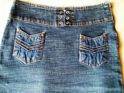 Джинсовая юбочка с карманчиками S
