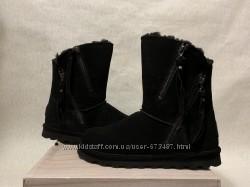 Угги Bearpaw Mimi Solids оригинал р. 39 40 41 new черные замша ugg skechers