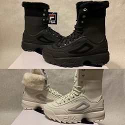 Fila Disruptor Shearling Boot оригинал р. 38 - 44 new ботинки белые