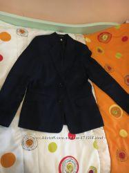 Школьный костюм, форма, брюки 134-150р, темно-синий