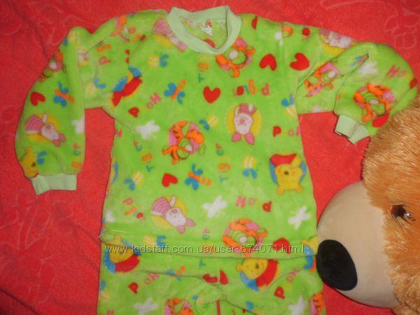 красивая плюшевая теплая пижама