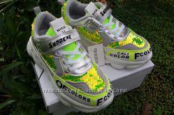 Кроссовки осень кросовки для девочки с пайетками золото