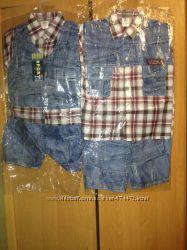Костюмчики на мальчика 2 модели. Рубашечка и шортики На 4 - 5 лет