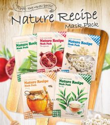 Тканевые маски для лица Secret Key Nature Recipe Mask Pack Жемчуг и Гранат