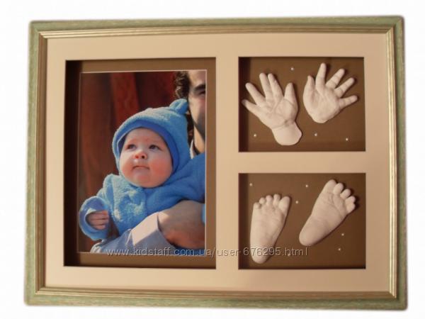 Baby Art настенная рамка для 2D слепка отпечатка ручки ножка и фото малыша