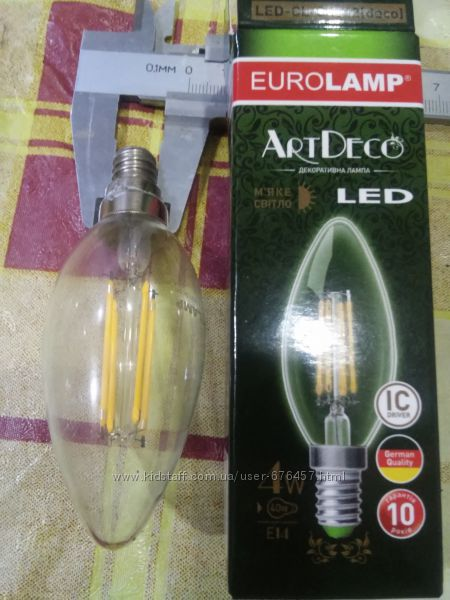 LED filament филамент Е12 лампа філамент светодиодная світлодіодна