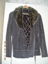 Тёплая курточка свиная кожа