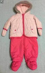 Зимний комбинезон Mothercare для девочки  подарок шапочка Mothercare.