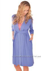 Трикотажный халат  для беременных и кормящих рукавчик 34