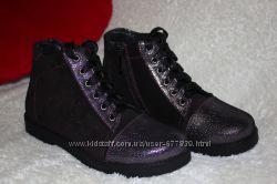 Демисезонные ботинки для девочки р. 33 - 21, 2 см р. 35 -22, 5 см Кожа